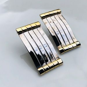 80'S Vintage Gold and Silver Earrings